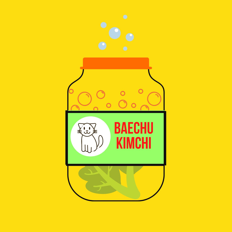 baechu kimchi cartoon