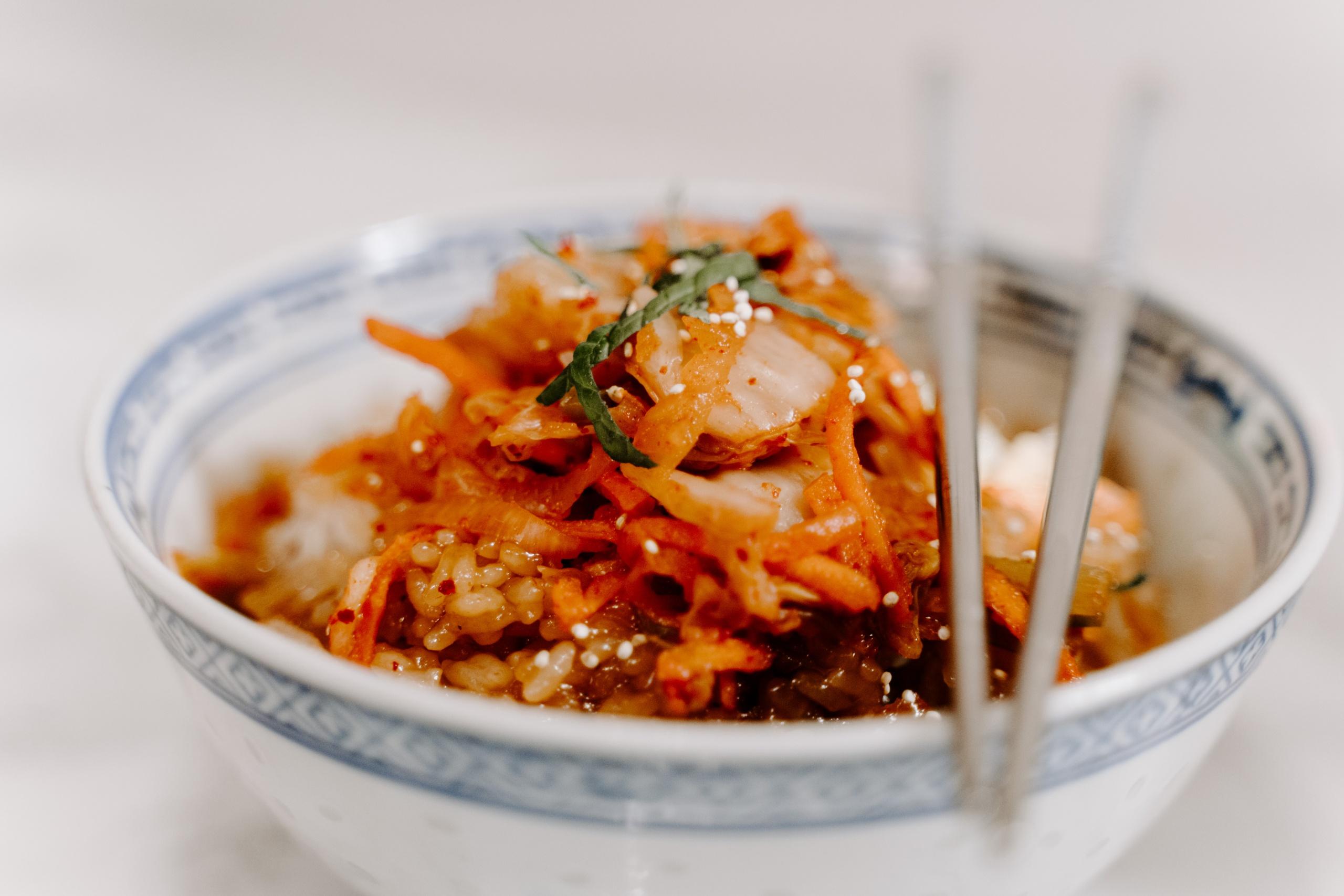 kimchi in bowl